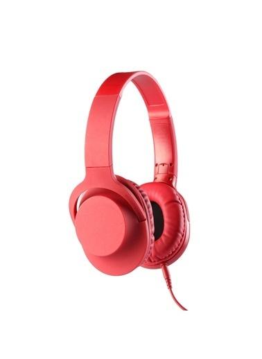 MF Product MF Product Acoustic 0105 Mikrofonlu Kablolu Kulak Üstü Kulaklık Kırmızı Kırmızı
